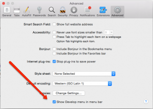 How to inspect element in Safari like you can in Chrome