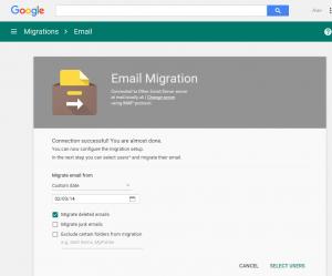 Select custom migration date
