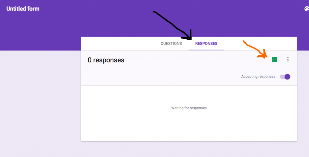 Google Forms response to Sheer
