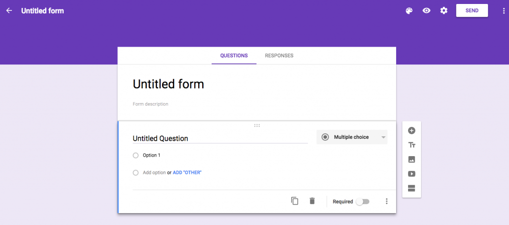 Create Google Form